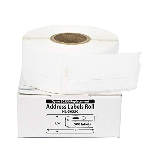 """12 Rolls; 500 Labels per Roll of DYMO-Compatible 30330 Multipurpose Labels (3/4"""" x 2"""") - BPA Free!"""