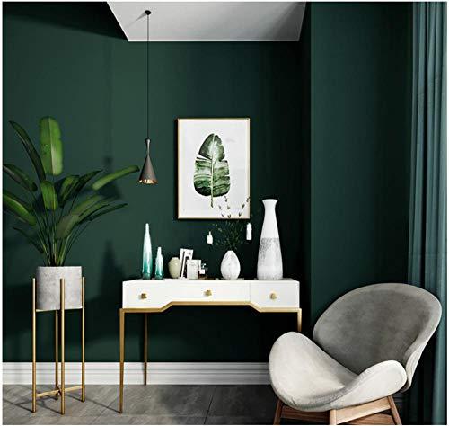 Tapete Modern Simplicity Plain Color 0.53X 9.5 M -Dunkelgrün-143 Vliestapete Wohnzimmer Schlafzimmer Restaurant Fernseher Sofa Hintergrund Wand Hintergrundbild Haus Dekoration