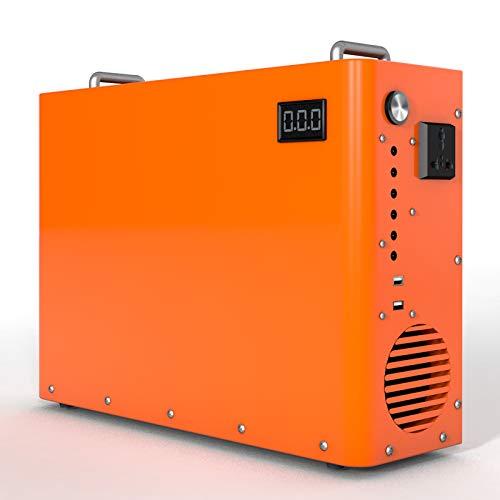ECO-WORTHY Generador de Energía Portátil 750Wh Batería LiFePO4 Incorporada con Carga DC-12V AC-220V mediante Panel Solar / Tomacorriente de Pared para Energía de Respaldo