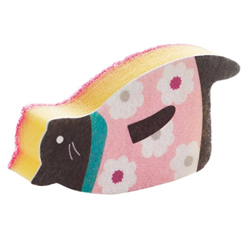 1 esponja de limpieza Toruiwa para cocina, diseño creativo de león marino,...