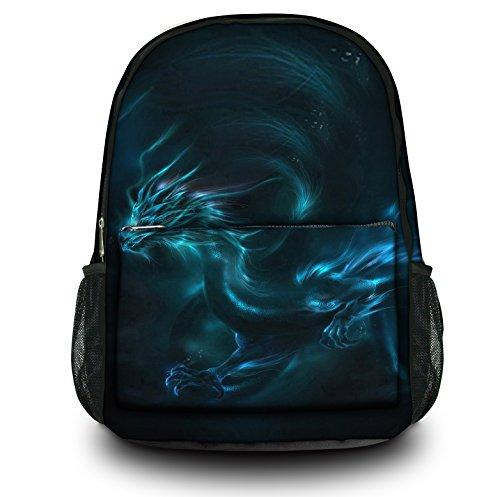 Luxburg® Design Rucksack Multifunktionsrucksack Ranzen Schulranzen Sporttasche Backpack, Motiv: Fantasy Drache