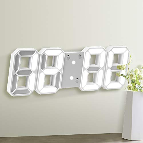 NGwenyicanI Reloj de pared LED digital con control remoto, r