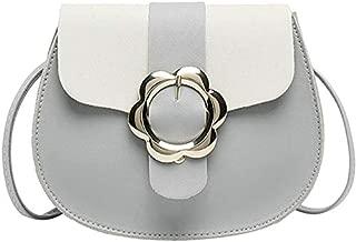 TOOGOO Fashion Women'S Handbags Simple Flower Decoration Small Bag Women'S Girls Candy Color Pu Leather Shoulder Ladies Messenger Bag Pink