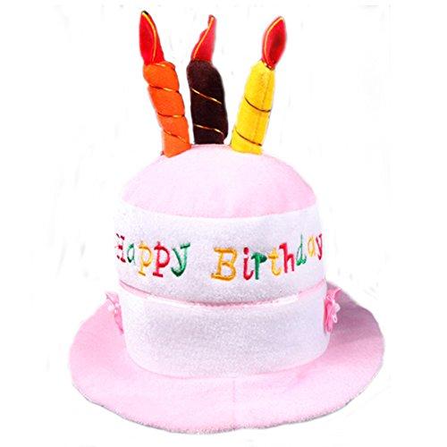 She's Shining Funny Boys/Girls - Gorro de cumpleaños con velas para decoración de fiesta, accesorio (rosa)