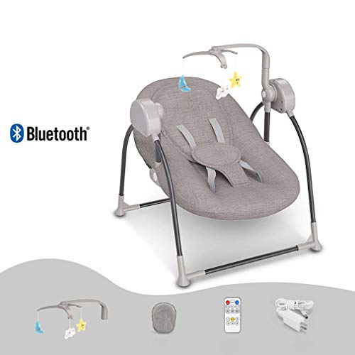 ZWQ kids Chaise berçante, Table Berceau Pliant bébé, Chaise Confort Nouveau-né endormi, Shaker Enfant, adapté pour 0-2 bébé,C