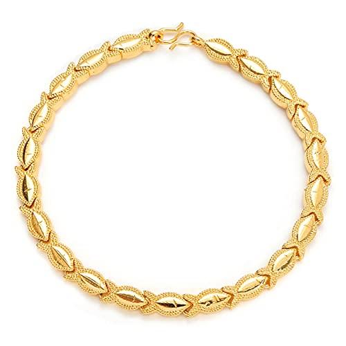 LTE Cadena de Pulsera de Oro multifato de Oro 24k Brazalete de Pulseras de Color de Oro para Hombres Regalos de joyería