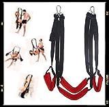 DanTanes Fournitures de Salle de Yoga, y Compris Tous Les Accessoires Jouets en Nylon 360 ° (Rouge)