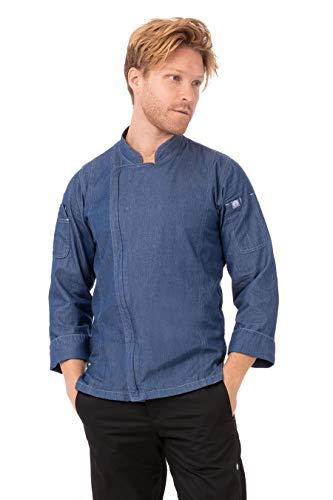 Chef Works Men's Gramercy Chef Coat Outerwear, -indigo blue, L
