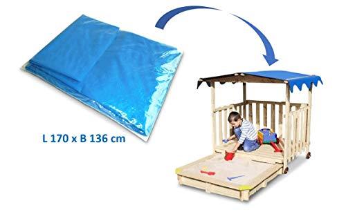 Coemo Dachplane Dachfolie für Spielhaus Abdeckplane Plane