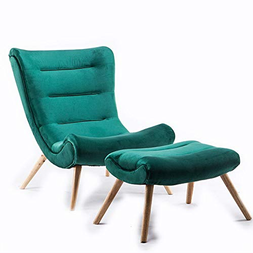 Feixunfan Fauteuil Lazy Couch Sleek Minimaliste Famille Fauteuil Confortable for Salon Chambre du Club Mode Canapé inclinable (Color : Green, Size : Free Size)