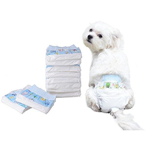 Mascota Perro Cachorro de papel pañales desechables para inodoro formación almohadillas Pack de 10