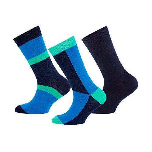 EWERS 3er-Pack Socken Baby-Söckchen Strümpfe, Größe 23/26, blau