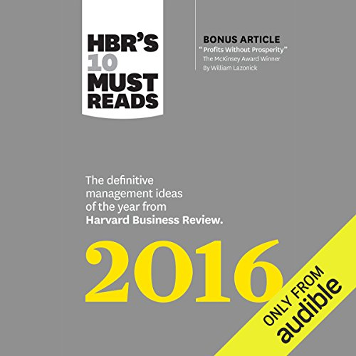 HBR's 10 Must Reads 2016 audiobook cover art
