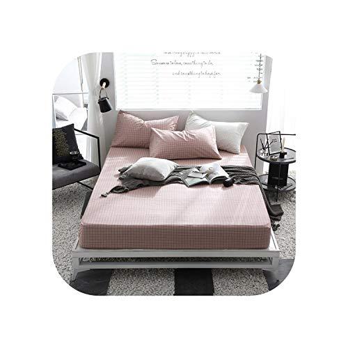 Blue Stor Bettgarnituren 1 Stück Baumwolldruck Bettmatratze Set mit Vier Ecken und elastischen Bandblättern-mengdediandi-150X200X25cm