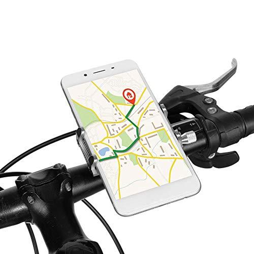 Alomejor Fahrrad Telefonhalterung Bike Phone Holder Fahrrad Lenker Handy-Halterung Universal für iPhone Samsung Android(Titanium)
