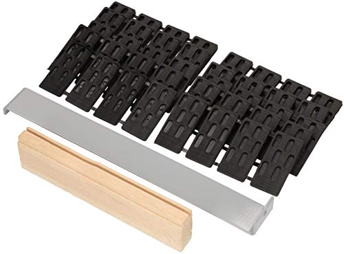 KOTARBAU Verlegeset 42tlg. Set Parkett Laminat Kunststoff Holz Montagekeile Zugeisen Schlagleiste Kunststoffkeile Laminatverlegen Parkettverlegen