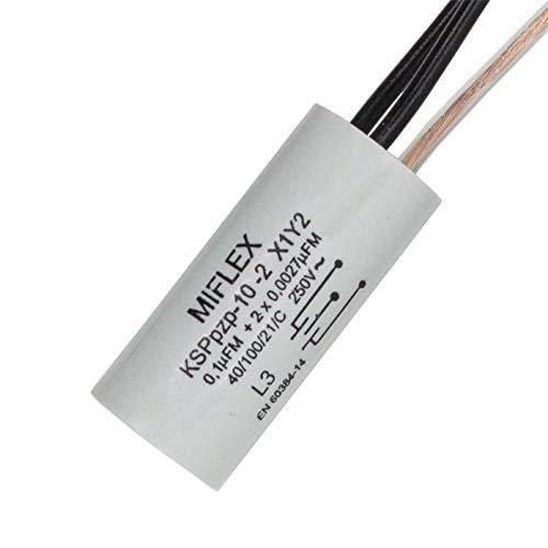 Condensatore di soppressione delle interferenze Radiale 1x 0,1µF + 2x 0,0027µF (27nF) 250V 15x35mm
