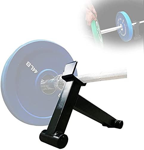 Barra de levantamiento de pesas Jack de peso muerto para placas de peso Reemplace el marco de soporte de barra de peso de peso de la carga para cargar / descargar el disco de hierro fácil de usar