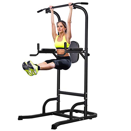 ONETWOFIT Multi-Function Power Tower Adjustable Height Home Fitness Workout Station Dip Stands Pull up Bar Push Up OT061