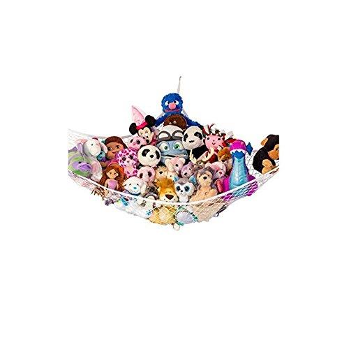 Huijukon Jumbo Spielzeug Hängematte Storage Net Organizer für weiche Stofftiere, Kinderzimmer spielen, Teddies (84 x 59 x 59 Zoll)