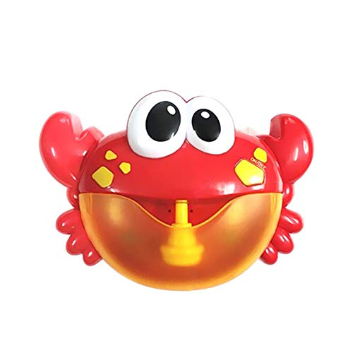 ARTIFUN Blasque à Crabe Machine à Bulles Crabe Automatique Enfants Jouet de Bain Bubble Machine Big Crab Automatic Bubble Maker Blower Music Bath Toy for Baby