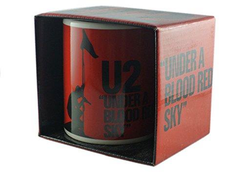U2 - Keramik Becher Tasse - Under a Blood Red Sky - verpackt in einer Geschenkbox!