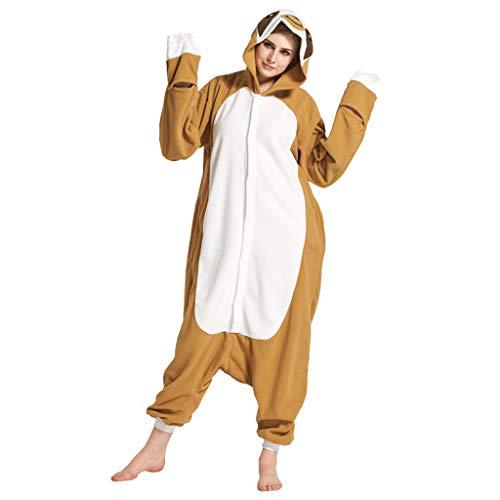 WANGLXPA Confortable Costume Animal Costume Animal Pyjamas Pyjamas Combinaison Kigurumi Paresse Femme Homme Cosplay Adulte pour Carnaval Animal Carnaval Halloween Cadeau, XL
