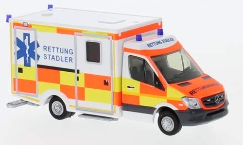Wietmarscher Ambulanzf.-RTW Facelift, Privater Rettungsdienst Stadler, 0, Modellauto, Fertigmodell, Rietze 1:87