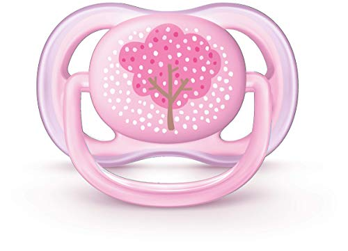 Chupeta Ultra Air Decorada 0-6 Meses Unitária, Philips Avent, Rosa