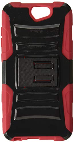 HR Wireless Carrying Case for HTC One A9 AERO - Retail Packaging - Black/Red