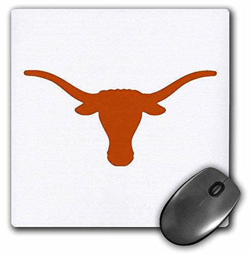 3dRose LLC 8 x 8 x 0.25 Inches Mouse Pad, Longhorns (mp_5721_1)