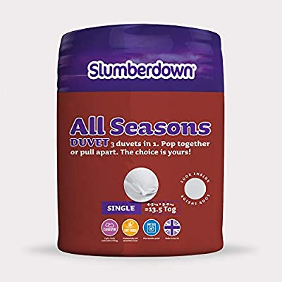 Slumberdown All Seasons 3-in-1 Duvet, White from