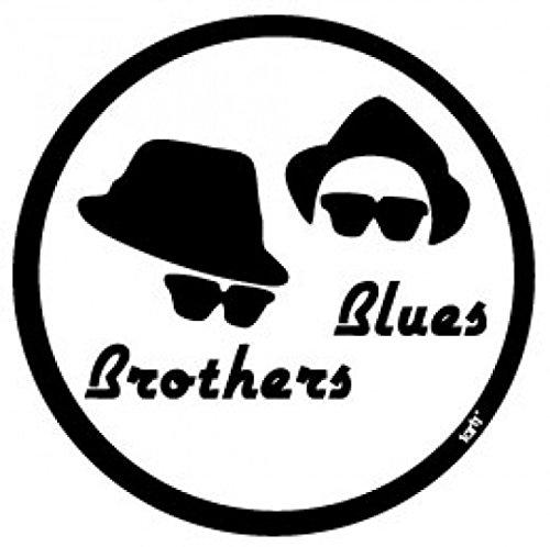1art1 Blues Brothers - Logo, Hüte Und Sonnenbrillen Poster-Sticker Tattoo Aufkleber 9 x 9 cm