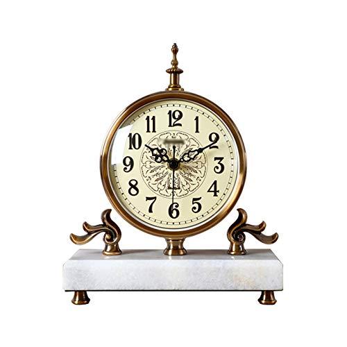 Decorativo Reloj Reloj de mesa de mármol simple / Reloj de manto Dormitorio creativo Sala de estar Estudio de la sala de escritorio del hogar El reloj de escritorio puede ser utilizado como un regalo