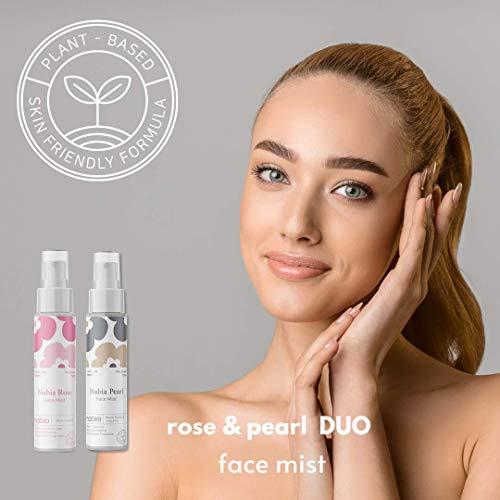 Nabia Hydrating Face Mist Set. Rose + Pearl Face Mist, Botanical, 3.38 Fl Oz