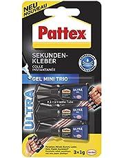Pattex Sekundenkleber Ultra Gel, extra starker & flexibler Superkleber