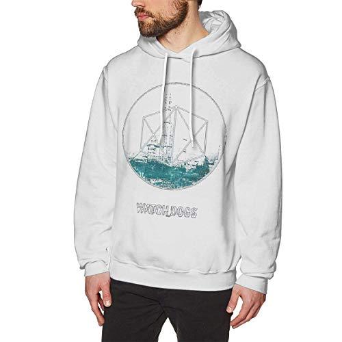 Chelsse Sudadera Sports Men's Adult Sweatshirts Hoodies Pullover Watch Dogs Long Sleeve Loose Crew Neck Drawstring Top T Shirt
