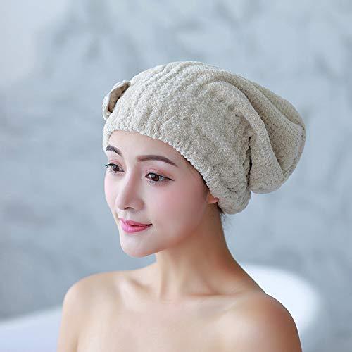 Aututer 2 Pack Épais Corail Velours Arc Cheveux Secs Cap Microfibre Absorbant Séchage Rapide Dessin Animé Princesse Bonnet De Douche