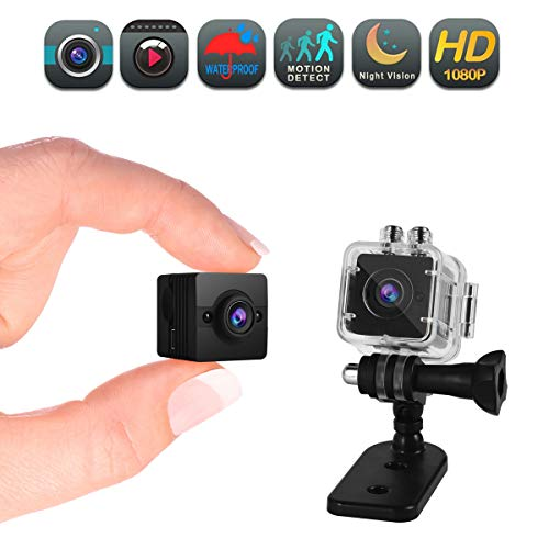 Mini Hidden Spy Camera Full HD 1080P Cam Waterproof with Audio Motion Detective Security Cameras for Home Car Drone Office Outdoor