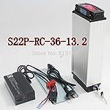 HYLH S22P 36V 13.2AH Bicicleta eléctrica Rack Trasero Batería de polímero de Iones de Litio Coche eléctrico para batería de Litio portadora Trasera SAMS