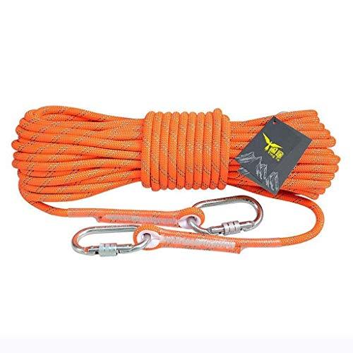 ZSM Inicio Cuerda de Escape de Emergencia Cuerda con núcleo de Acero de Gran Altura residenciales y comerciales Fuego Prevention Lifeline Camping Cuerda Diámetro 10 mm / 4 mm Cuerda de Escalada YMIK