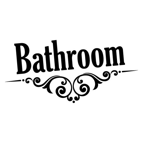 BATHROOM DOOR SIGN STICKER Home Decals Stickers