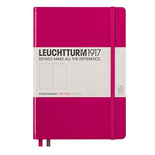 LEUCHTTURM1917 (344809) Carnet Medium (A5) couverture rigide, 249 pages numérotées, pointillés, baie