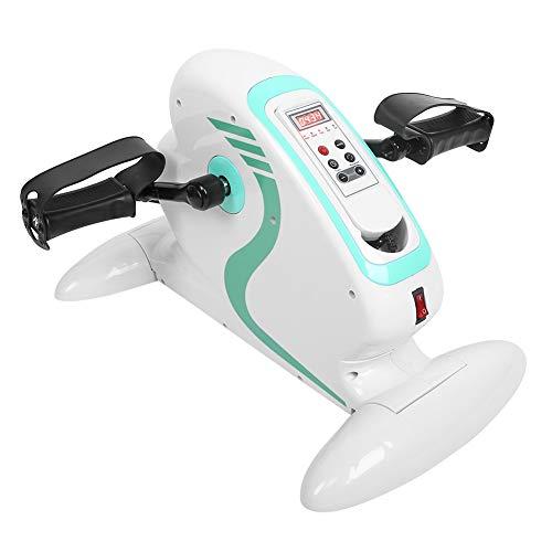 Ejercitador de pedal eléctrico, bicicleta estática debajo del escritorio, equipo de entrenamiento de rehabilitación para ejercicio de extremidades superiores e inferiores, adelgazamiento de piernas
