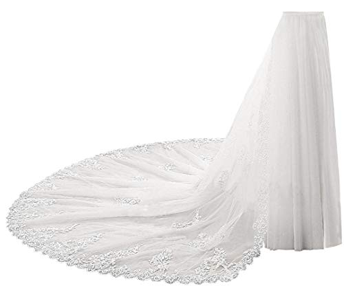 1.8M Detachable Train with Lace Removable Train Costume Tulle Oversize