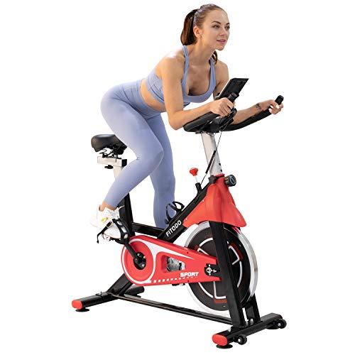 FITODO Bicicleta Estática Dispositivo de Ciclismo para Interiores Fitness y Ejercicio en el Hogar en Interiores con Asiento y Manillar Ajustable