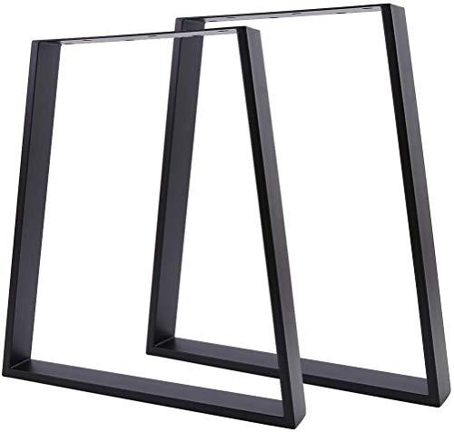 2x Tischkufen Schwarz Tischgestell 28 Zoll DIY Metall Industrie Tisch Beine Tischkufen zum Essen Kaffeetischbeine Büro-Industriemöbelbeine (45x65x71cm - Trapez Tischbeine)