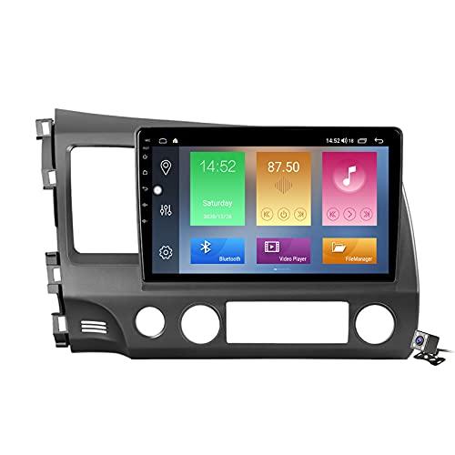 Buladala Android 10 Autoradio Stereo GPS Navigatore 2 DIN con 9' Schermo per Honda Civic 8 2005-2012 Supporto FM AM RDS DSP/Controllo del Volante/Carplay Android Auto/BT Vivavoce,M200s