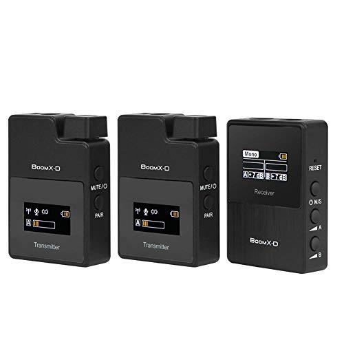 DAUERHAFT Mic 2.4G Micrófono Digital inalámbrico de cantidad eléctrica visualizada para Cable...