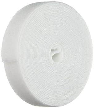 Monoprice Hook & Loop Fastening Tape 5 Yard/roll 0.75-inch - White  105829